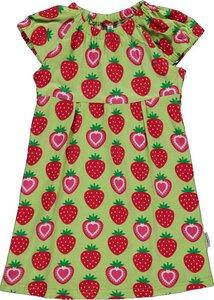 Kurzarm-Tunika 'Strawberry' grün mit Erdbeer-Printmotiv - maxomorra
