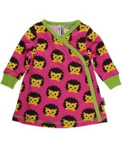 Baby-Kleid 'Igel' pink mit Printmotiv - maxomorra