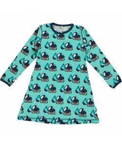 Mädchen-Kleid 'Excavator' hellblau mit Bagger-Printmotiv - maxomorra