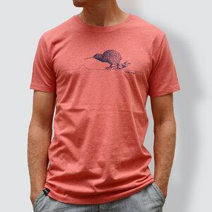 """Herren T-Shirt, """"Kiwi"""", Coral - little kiwi"""