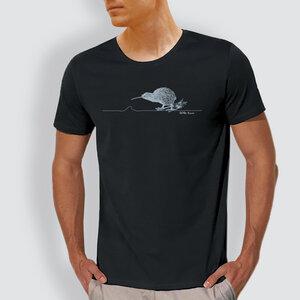 """Herren T-Shirt, """"Kiwi"""", Schwarz - little kiwi"""
