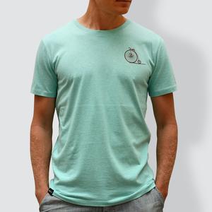 """Herren T-Shirt, """"Aufsteigen"""", Minzgrün - little kiwi"""