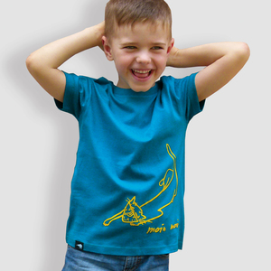 Kinder T-Shirt, 'Moin Moin', Ocean Depth - little kiwi