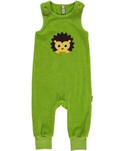 Baby-Playsuit Latzhose 'Hedgehog' Kuschel-Nicki, mit Igel-Motiv - maxomorra