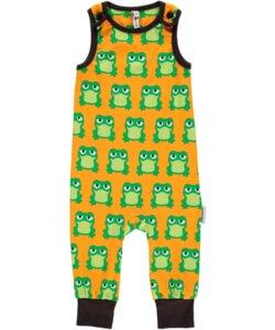 Baby-Playsuit Latzhose 'Frogs' mit Frosch-Printmotiv - maxomorra