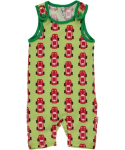Baby-Playsuit  Spieler 'Sports Car' mit Rennauto-Printmotiv - maxomorra