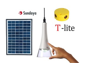 Sundaya T-Lite 180 Solar Lightkit 4 White, 4 Leuchtelemente - Sundaya