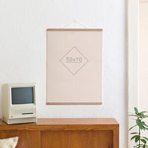 Magnetische Posterleiste / Bilderleiste Eiche 50 cm - Kleinwaren / von Laufenberg