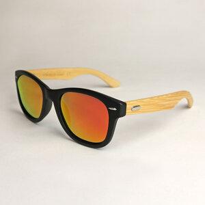 Sonnenbrille Unisex Schwarz mit Spiegelglas - Antonio Verde