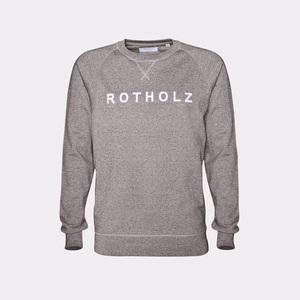 LOGO / Organic Crewneck (Stone Heather) - Rotholz