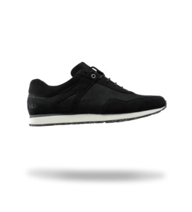 Low Seed Runner black suede - ekn footwear