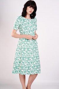 Floral Print Flare Dress  - bibico