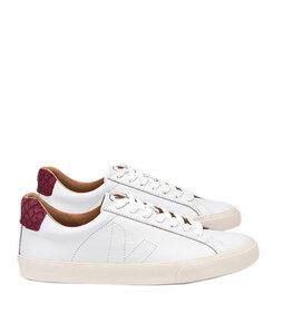 Esplar Low Bastille Leather Extra White Puxador Tilapia Marsalla - Veja