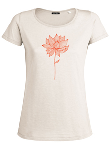 Red Blossoms - Adores Slub - T-Shirt - GreenBomb