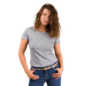 Pinstripe T-Shirt Ladies - bleed