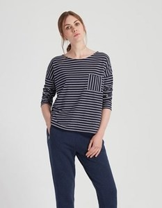 Elba Stripe Top - Navy - People Tree