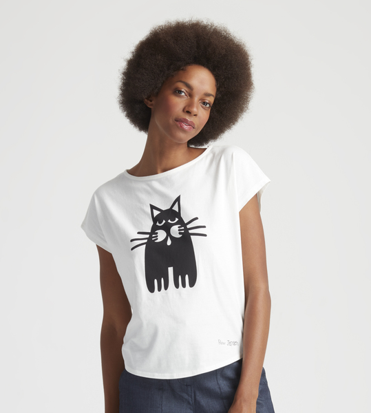 people tree peter jensen single cat tee avocadostore. Black Bedroom Furniture Sets. Home Design Ideas