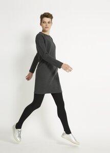 Marcia Fleece Dress - Grey Melange - People Tree