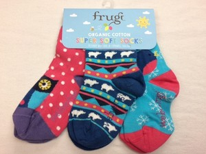 Super Soft Socks 3er Pack Birds and Bears - Frugi