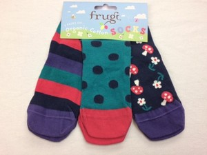 Super Soft Socks 3er Pack Helford Blue Mushrooms - Frugi