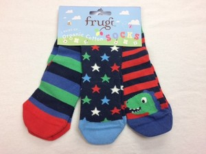 Super Soft Socks 3er Pack Dino - Frugi