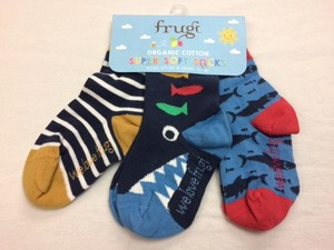 Super Soft Socks 3er Pack Sharks - Frugi