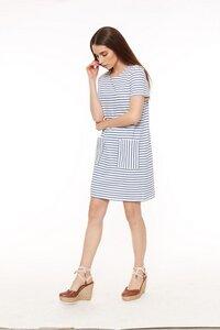 Aida Stripe Dress Navy - People Tree