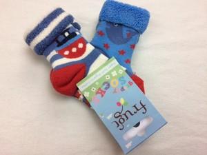 Grippy Socks 2er Pack Tug Boat - Frugi