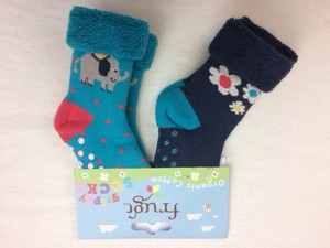 Grippy Socks 2er Pack Elephant - Frugi