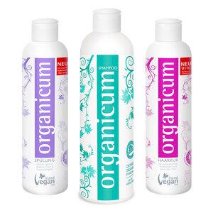 organicum Set (Shampoo für alle Haartypen, Spülung und Haarkur) - organicum
