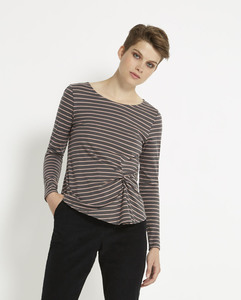 Taylor Twist Top - Pink Stripe - People Tree