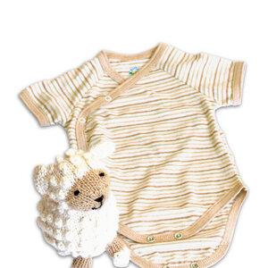 Baby Geschenk-Set Schaf und Bio Wickelbody - Mama Ocllo