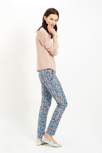 Alba Trousers Blue Multi - People Tree