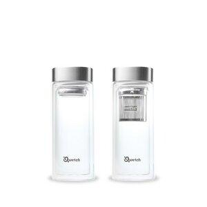 Doppelwandige Glasflasche mit integriertem Teefilter 320 ml - Qwetch