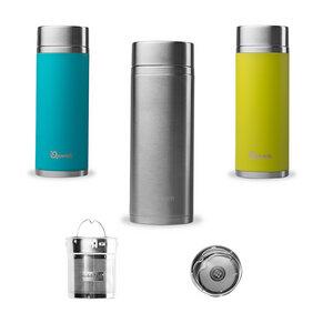 Doppelwandige Trinkflasche mit 2 Teefiltern - Qwetch