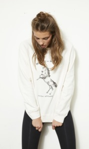 TERRY JUMPER UNICORN WHITE - Hati-Hati
