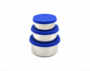 Lunchboxen 3er Set Edelstahl blau  - Made Sustained