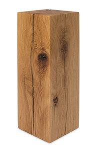 Dekosäule 17x17cm von GreenHaus® Holzsäule Eiche Massivholz Podest - GreenHaus