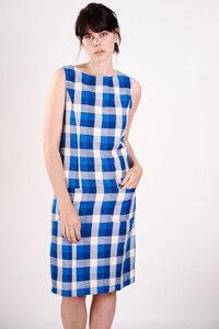 Checked Pinafore Dress  - bibico