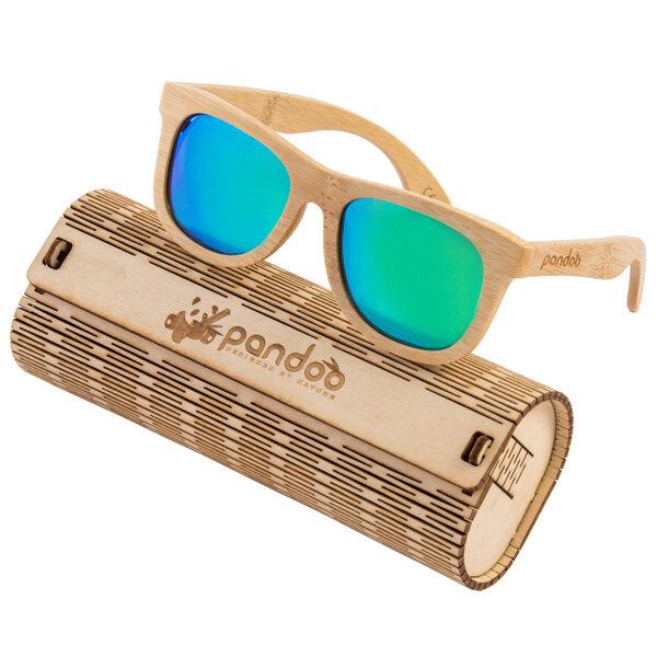pandoo Bambus Sonnenbrille Unisex - polarisiert&UV400 - Blau K3lvgeNWyc