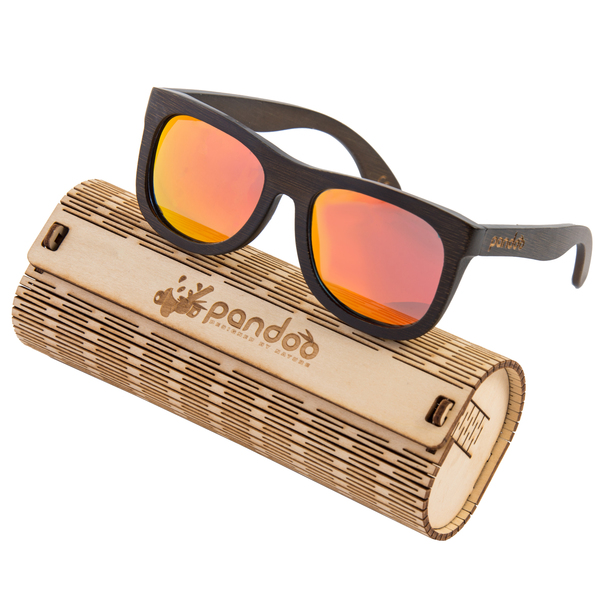 pandoo® Bambus Sonnenbrille Unisex - polarisiert&UV400 - Orange nsJAlO