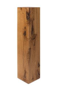 GreenHaus Blumensäule  20x20cm Eiche Massivholz Dekosäule Podest - GreenHaus