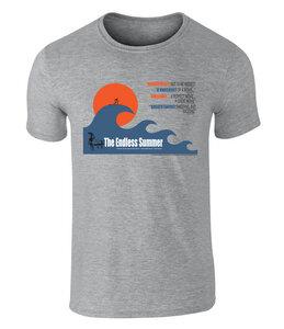 THE ENDLESS SUMMER - Big Wave Grafik Unisex T-Shirt - California Black Plate
