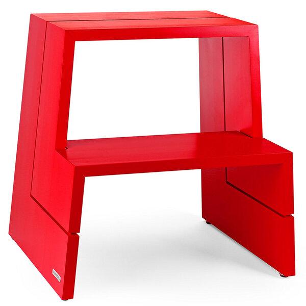 naturehome design holz tritthocker aus massivem buchenholz rot avocadostore. Black Bedroom Furniture Sets. Home Design Ideas