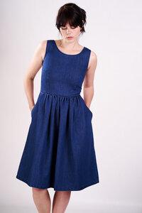 Denim Sleeveless Dress  - bibico
