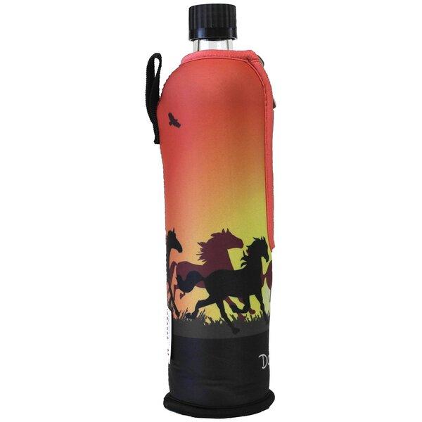 glas trinkflasche mit neoprenbezug pferde von dora bei avocado store g nstig kaufen. Black Bedroom Furniture Sets. Home Design Ideas