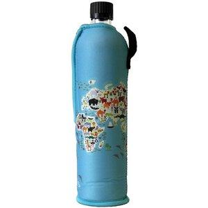 Trinkflasche Glas mit Neoprenbezug  - Dora