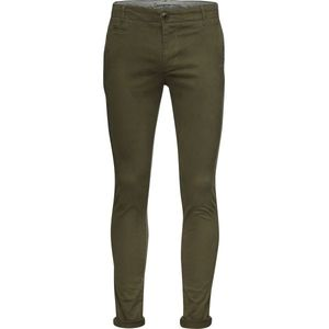 Pistol Joe-Chino Slim Stretch-Burned Olive - KnowledgeCotton Apparel