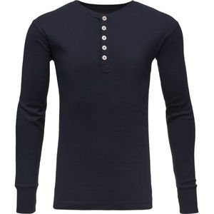 Rib Knit Henley - GOTS - Total Eclipse - KnowledgeCotton Apparel