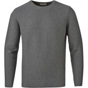 Revers Solid Striped Knit GOTS Dark Grey Melange - KnowledgeCotton Apparel